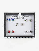 Fashion Accents Critters Box Earring Set
