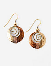 Silver Forest Fashion Bronze Coil Earrings