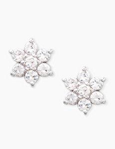 CZ Sterling Silver Flower Stud Earrings