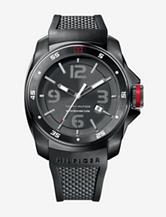 Tommy Hilfiger Men's Black Silicon Strap Watch