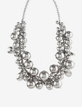 Ruby Rd. Utility Chic Silver Bead Cluster Necklace