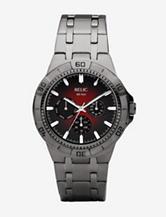 Relic Gunmetal Red Dial Watch – Men's