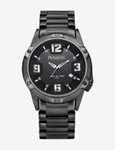 Armitron Round Black Stainless Steel Bracelet Watch