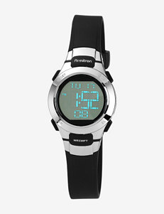Armitron Sport Digital Chronograph Black Resin Strap Watch