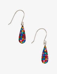 Athra Crystal Multi-Colored Teardrop Earrings