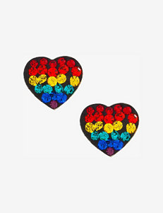 Athra Crystal Rainbow Heart Stud Earrings