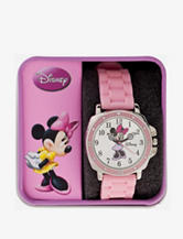 Disney Minnie Mouse Pink Moving Hands Watch – Ladies