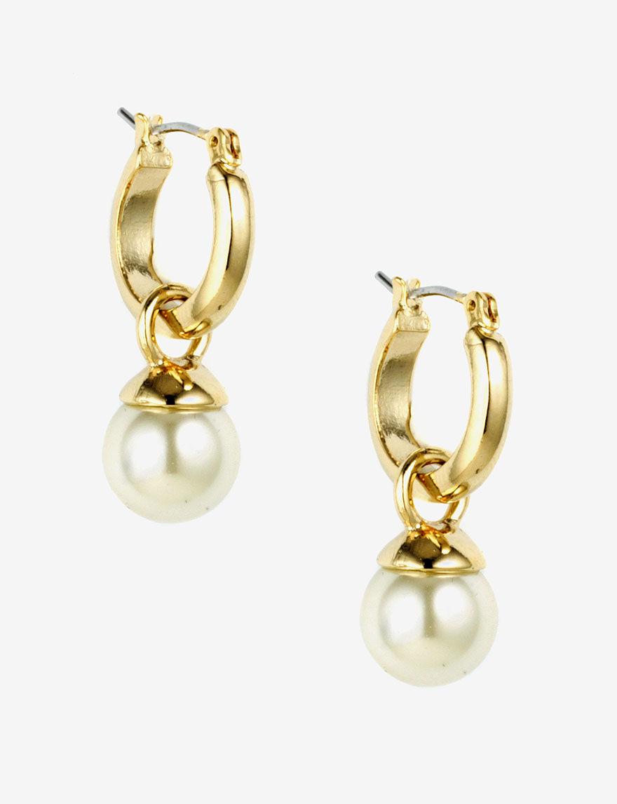 klein pearl drop hoop earrings stage stores