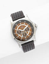 U.S. Polo Assn. Men's Brown Leather Strap Watch