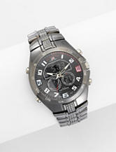 U.S. Polo Assn. Men's Analog & Digital Silver Tone Round Face Watch
