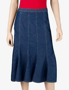 Studio West Denim Flare Skirt