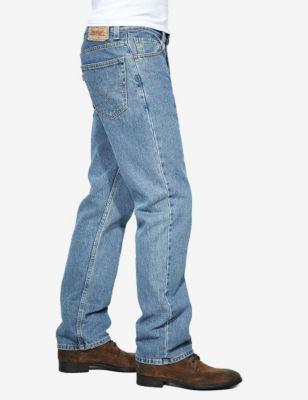Levi's 505 Regular Fit Stonewash Jeans