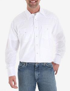Wrangler® White Western Shirt