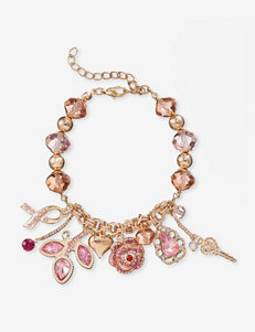 Breast Cancer Research Foundation® Rose Pink Charm Bracelet