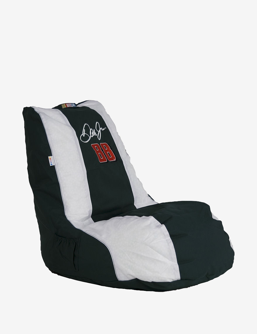 Ace Dale Earnhardt Jr. #88 NASCAR Gaming Bean Bag Chair - Black & White - - ACE by Ace Bayou