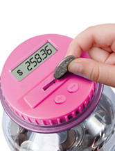 Discovery Kids Coin Bank Plus Minus Function – Pink / Purple