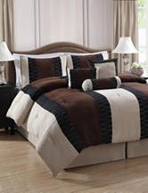 Pem America Nakita Brown 7-pc. Faux Suede Comforter Set
