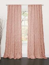 Lush Decor Lake Como Peach Window Curtain Panel