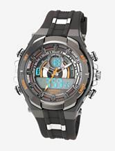 Armitron Men's Grey & Orange Ana-Digi Sport Watch