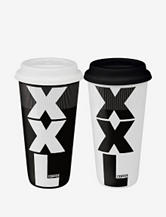 Konitz Set of 2 Large XXL Travel Mugs