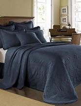 King Charles Matelasse Provincial Blue Bedspread