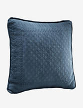 "King Charles Matelasse Provincial Blue 18"" Square Decorative Pillow"