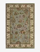Nourison India House Traditional Light Blue Floral Rug