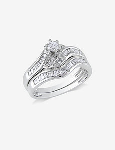 1/2 CT. T.W. 14K White Gold Diamond Ring Set