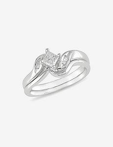 1/4 CT. T.W. Diamond 14K White Gold Ring Set