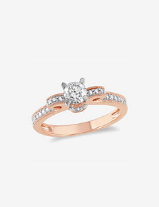 Amour Bridal Collection 1/2 CT. T.W. 14K White & Rose Gold Diamond Fashion Ring