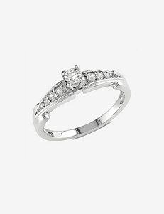 Sterling Silver 1/4 CT. T.W. Diamond Fashion Ring