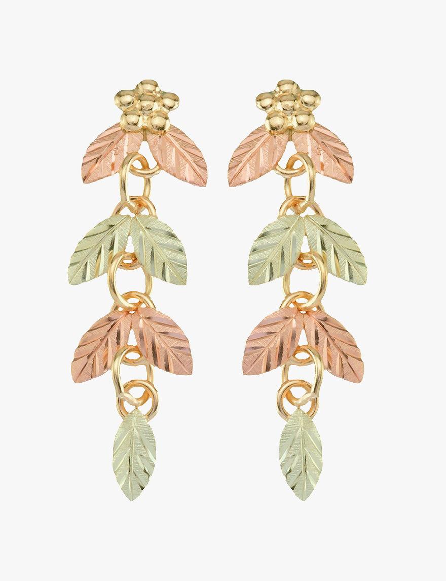 Black Hills Gold  Drops Earrings Fine Jewelry