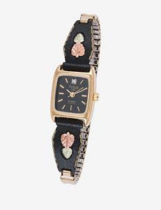 Black Hills Gold Powder Coated Watch – Ladies