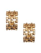 Anne Klein Gold Tone Hoop Clip Earrings