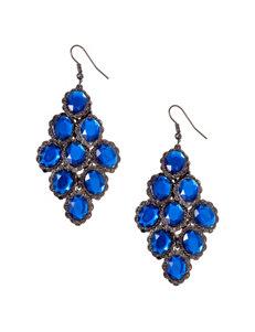 Hannah Blue Drops Earrings Fashion Jewelry