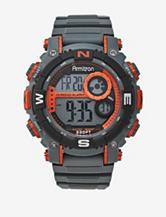 Armitron Sport Metallic Orange & Grey Resin Strap Chronograph Digital Watch