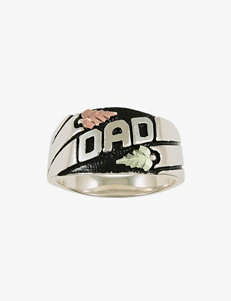 Black Hills Gold Sterling Silver Dad Ring - Men's