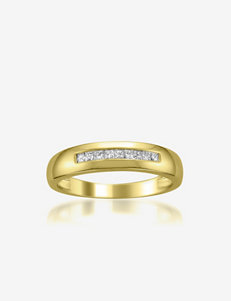 La4ve Diamonds  1/4 CT. T.W. Diamond 14K Yellow Gold Band Ring - Men's