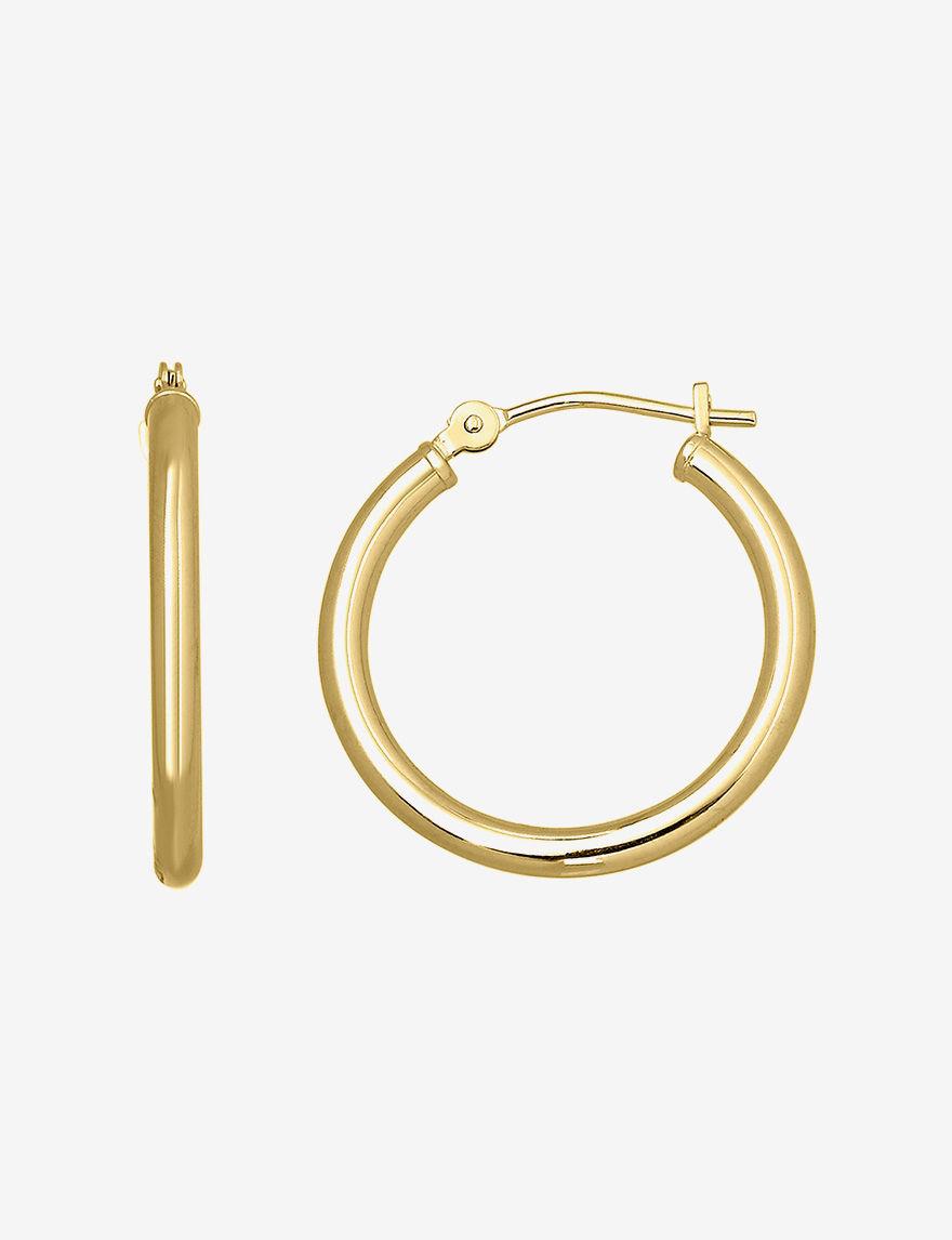 Aurafin Oro America  Hoops Earrings Fine Jewelry