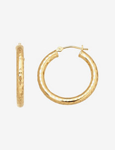 Aurafin Oro America  Hoops Earrings Fine Jewelry