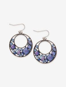 Hannah Cobalt & Sapphire Gypsy Hoop Earrings