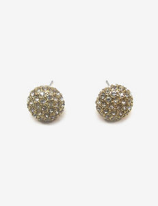 Signature Studio Pave Button Earrings