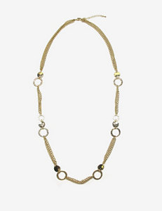 Signature Studio Textured Circle Chain Necklace