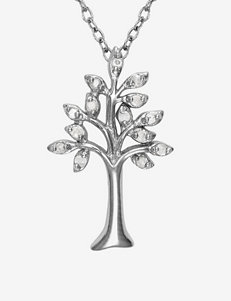 1/10 CT. T.W. Sterling Silver Tree of Life Pendant