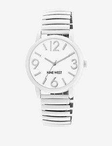 Nine West Stainless Steel Round Dial Watch – Ladies