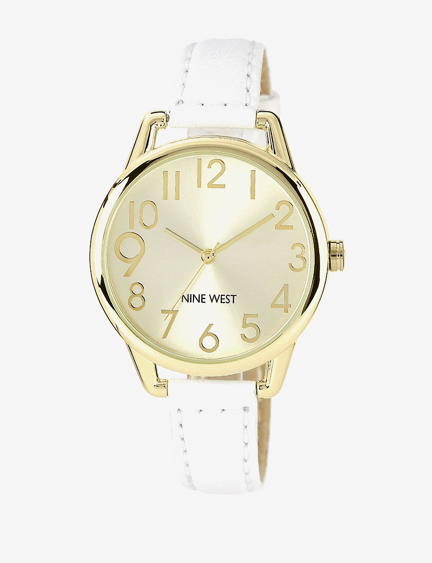 Nine West White Fashion Watches