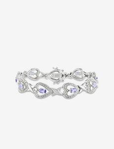 0.018 CT. T.W. Sterling Silver Diamond & 2 CT. T.W. Tanzanite Bracelet