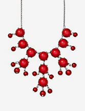 Hannah Red Bubble Necklace
