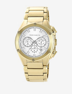 Vince Camuto Gold Tone Plated Stainless Steel Bracelet Watch – Ladies