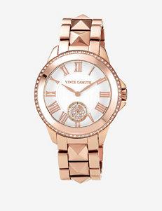 Vince Camuto Swarovski Crystal Rose Gold Tone Bracelet Watch – Ladies